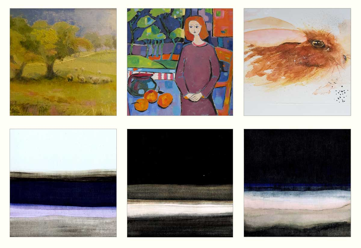 A selection of paintings